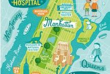 Illustrated maps / by Josh Cleland