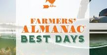 Best Days / According to Farmers' Almanac tradition, when the moon is in the appropriate phase and place in the zodiac, it's widely believed that activities will be more fruitful or lead to improved results. The period between the new and full moon (first and second quarters) is considered as the best time to perform tasks that require strength, fertility and growth. The period between the full and new moon (third and fourth quarters) is best for harvesting, slowing growth, etc.