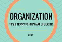 Organization / Tips & tricks to help make life easier.