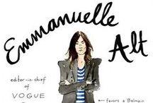 Style File: Emmanuelle Alt e Geraldine Saglio / by Carolina Yuka
