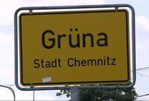 Grüna / Mittelbach - Sachsen (Saxony) / 09224 Chemnitz (formerly Karl-Marx-Stadt in GDR) district Grüna / Sachsen (Saxony) East-Germany