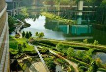 Badeanlagen - Wasseranlagen / Architekturprojekte zu öffentlichen oder privaten Schwimmteichen, Naturpools, Fluss- und Bachläufe, Wasseranlagen