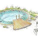 Schwimmteich Planungen Gestaltung / Natural pool planning design / Planungsentwürfe zu Naturgärten, Schwimmteichen und Naturpools realisiert durch Hariyo Freiraumgestaltung