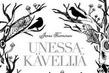 Unessakävelijä - Sleepwalker / UNESSAKÄVELIJÄ - SLEEPWALKER Colouring book Unessakävelijä (Finnish for Sleepwalker) was released on 9th of February 2016. Jenni's first book is a gothic dreamlike adventure. It is published by Kustantamo S&S (Shildts & Söderströms). http://kustantamo.sets.fi/kirjat/unessakavelija/