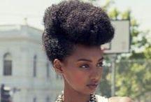 Hair / Hairstyles, cuts and color, maintenance, hair inspiration, Afro, natural hair, braids, curly hair, style, chignon, French braids, Dutch braids, cornrows, TWA / by Rania Hamid