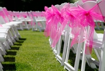 Chair covers and bows / Beautiful creations that add style and glamour to celebrations, weddings and events.