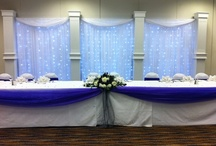 Wedding Backdrops / Welcome to our board dedicated to beautiful wedding backdrops. Here at Grand Design Weddings and Events we offer bespoke wedding backdrops to suite most venues, small or large. We specialise in Roman Pillar Starlight Backdrops.