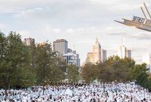 DINER EN BLANC / Countdown to the next Dîner en Blanc party in Melbourne, where all the guests come dressed, stylishly in White.