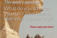 Q&Q: Questions and Quotes / What sort of thing intrigues you about travel? And what gets you inspired? Here are some tidbits to get your travel bug all excited!