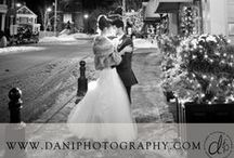Winter Weddings / Winter wedding photos by dani. fine photography