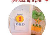 Father's day ideas One Daddy at a time / Father's day Crafts, Father's day Food, Father's day Ideas, Printables