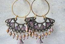 My earrings - mijn oorbellen / Earrings I made/oorbellen die ik zelf maakte