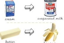 Baking substitutes, tips and conversions / by Julia Martin