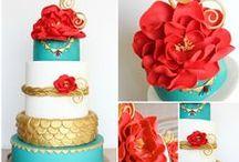Courtney's Wedding / Look for teal, blue, hot pink, lime green, orange, aqua, purple.