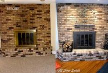 Fireplace Upgrade / Fireplace Upgrade. Updating the Look of Your Existing Fireplace, Fireplaces, Interior Design, Home Decor, Architectural Elements