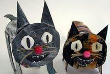 v Craft - Cardboard / Crafting with kids using paper rolls, cardboard boxes, egg cartoons etc