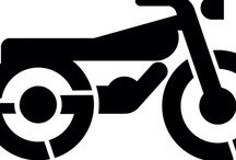 Car and Motorcycle stencils / Stencils depicting cars and motorcycles or used in parking lots