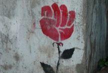Street Art / Recycled Art / Found Object Art / Wall Sticker