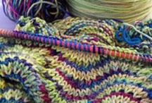 Yarn & String Treasures / Knitting is actually a great way to relieve stress. Here are some knit and crochet ideas.
