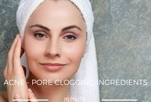 Acne - Pore Clogging Ingredients / All the information about Pore Clogging Ingredients