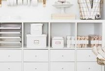Office Organization / Office Organization: Office organization ideas, tips, hacks, organized office, organized home, DIY organization, storage hacks, office decor.