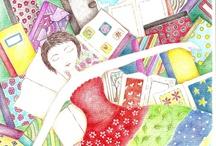 Meus doodles , desenhos e mixmedias / ilustracões em diferentes técnicas