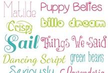 fonts & frames / by Jennifer Stewart