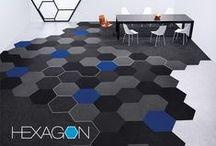 Hexagon | 2013 Best of NeoCon Silver Winner / A natural evolution of form, hexagon is the next logical move for the design of carpet tile. Non-linear in composition, it's a perfect reflection of our culture shifting toward more collaborative environments— impacting the way we work, walk, communicate, create and exist within our three dimensional space.