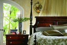 Bedroom - British Colonial Plantation Vibe / This is a collection of rooms that have that British Colonial Caribbean plantation vibe. Rooms that have more history than tropical flare.