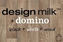 Design Milk + Domino: Black, White + Wood / all things black, white and wood.