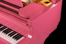 Pink Music / Pink Musical Instruments & Music! Pink Guitars, Pink Pianos, Musicians & More!