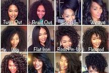 Natural Hair Boutique / Whether you wear your hair straight or in its natural state, take a look and grab some ideas! / by Ericka