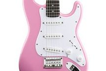 Pink Electric Guitar / Pink Electric & Bass Guitars - Play Music With Flare!