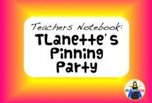 TN: TLanette's Pinning Party / Pins from fellow teacher authors who sell their products on Teacher's Notebook. If you would like to join our board, please let me know at TLanPollard@comcast.net