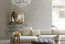 London Townhouse Style / Classic London townhouse style exudes elegance in taupe, grey, cream, stone and nude tones. Classic touches with metallic elements, stripes, monochrome accents and luxe finishes complete this sophisticated look. Lots of stairs too!