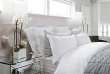 Guest Bedroom Ideas / Soft greys and romantic whites make this a relaxing, usable space.