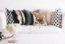 Sofa Styling / Accessorizing ideas and inspiration for the sofa.