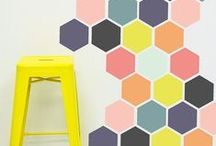Playful Colours & Bright Interiors / Interior spaces with adventurous colour palettes