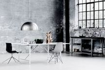 Industrial Inspired Interiors / Raw materials, industrial finishes...