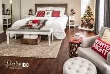 Holiday Bedroom / Rustic Chic Holiday Bedroom http://www.destrophoto.com/2014/12/15/rusticchicholidaybedroom/