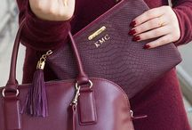 Oxblood and Maroon Style / Autumnal and classy - always