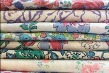 Vintage fabric and haberdashery