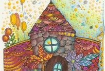 .~Illustrated Art in Color~. / Drawing, Doodling, Sketching, Painting and Other Awesome Artwork! / by Kathy Kaysen Oaks