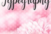 POSH // Typography / Fonts, fonts fonts..  need I say more?  I LOVE fonts!