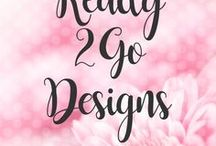 POSH // Ready2Go Blog Designs / Take your blog to the next level with one of my modern and stylish mobile responsive Ready2Go blog designs. These premade designs are a great for either Blogger or WordPress