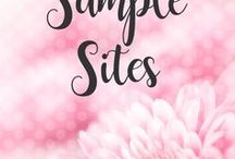 POSH // Sample Sites / These are samples sites that I have created on both the Blogger and WordPress platform, all designs are mobile responsive.  Take a look around and see how each blog, website and eCommerce site works!