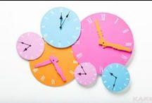Horloges design / Ultra-modernes, design, swinging London, tendance rétro, poétiques comme un vol de papillon... Les horloges chez declikdeco.com marquent les heures et se jouent du temps qui passe !
