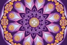 """Mandalas - The sacred circle / """"I began to understand that the goal of psychic development is the self. There is no linear evolution; there is only a circumambulation of the self."""" - Carl Jung"""