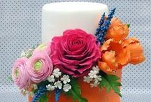 Wedding Cake - Garden / Garden Wedding Cakes, Flowers, Outdoors