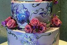Wedding Cake - Painted / Painted Wedding Cakes